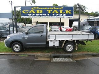 2011 Toyota Hilux TGN16R MY12 Workmate Grey 5 Speed Manual Cab Chassis.
