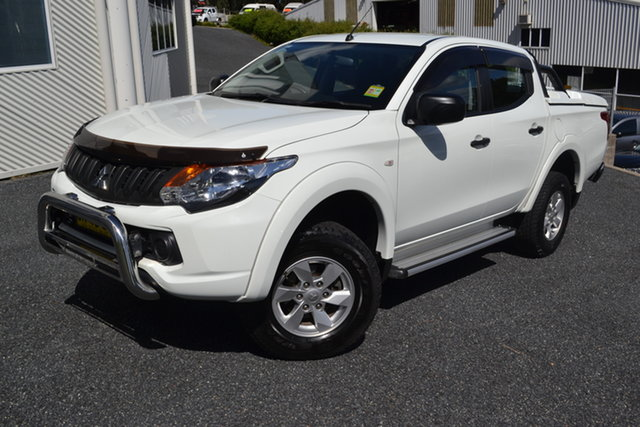 Used Mitsubishi Triton MQ MY18 GLX+ Double Cab Maitland, 2018 Mitsubishi Triton MQ MY18 GLX+ Double Cab White 5 Speed Sports Automatic Utility
