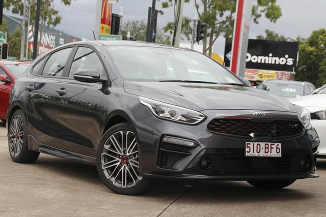 Demo Kia Cerato BD MY21 GT DCT Bundamba, 2020 Kia Cerato BD MY21 GT DCT Platinum Graphite 7 Speed Sports Automatic Dual Clutch Hatchback