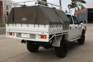 2004 Toyota Hilux KZN165R (4x4) White 5 Speed Manual Dual Cab Chassis