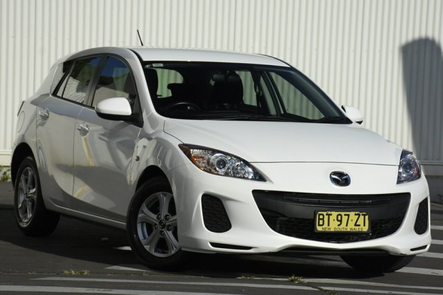 Used Mazda 3 BL10F2 MY13 Neo Activematic Wollongong, 2012 Mazda 3 BL10F2 MY13 Neo Activematic Crystal White 5 Speed Sports Automatic Hatchback