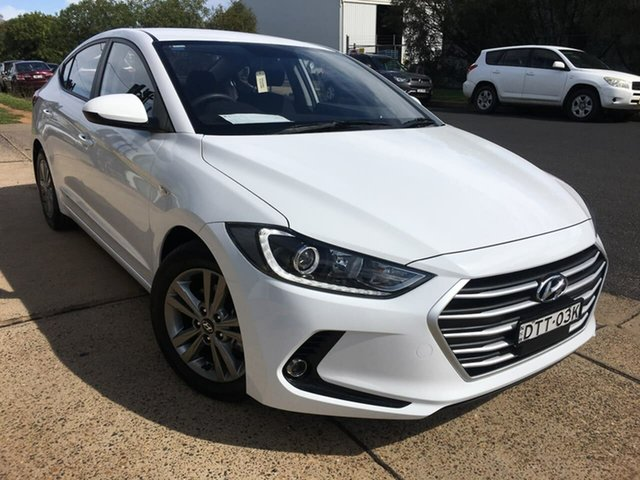 Used Hyundai Elantra AD Active Dubbo, 2017 Hyundai Elantra AD Active White Sports Automatic