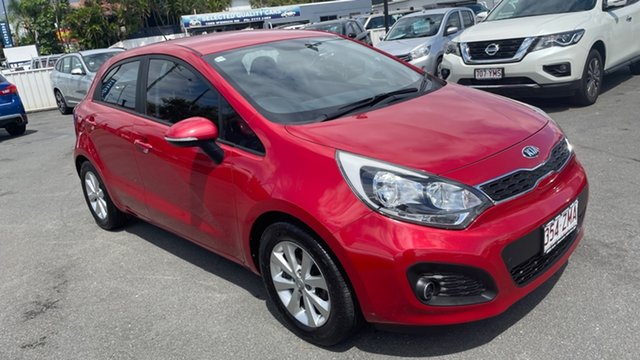 Used Kia Rio UB MY14 S Moorooka, 2014 Kia Rio UB MY14 S Signal Red 4 Speed Sports Automatic Hatchback