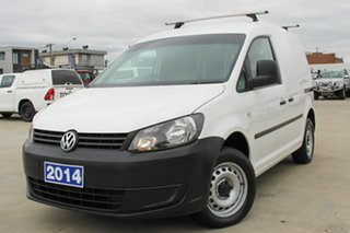2014 Volkswagen Caddy 2KN MY14 TDI250 SWB White 5 Speed Manual Van.