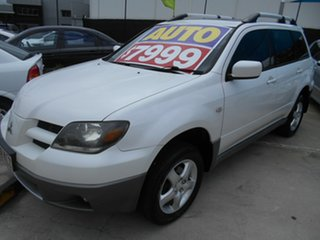 2003 Mitsubishi Outlander ZE XLS White 4 Speed Sports Automatic Wagon.