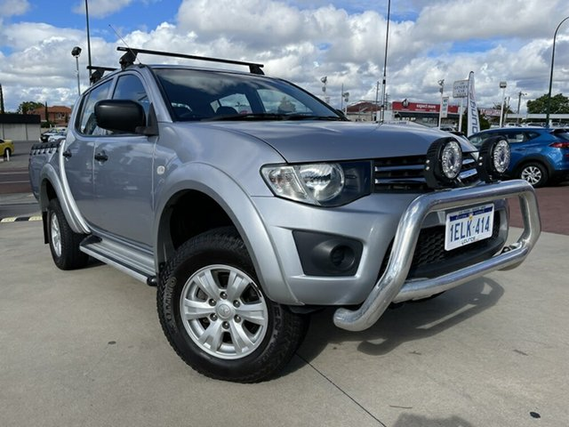 Used Mitsubishi Triton MN MY15 GLX Double Cab Victoria Park, 2014 Mitsubishi Triton MN MY15 GLX Double Cab Silver 4 Speed Sports Automatic Utility