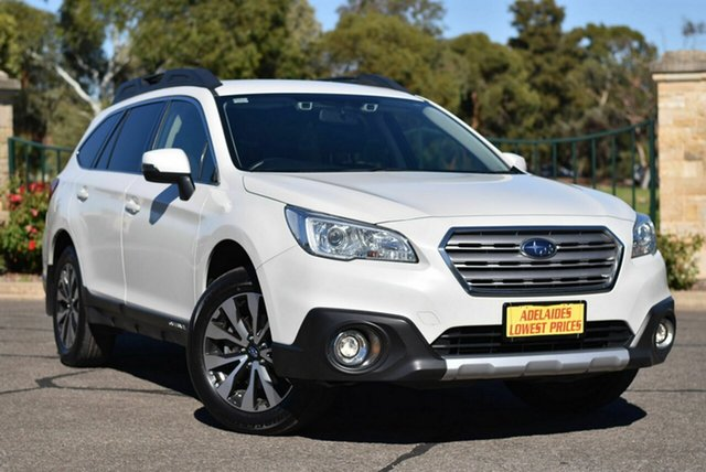 Used Subaru Outback B6A MY17 2.5i CVT AWD Enfield, 2017 Subaru Outback B6A MY17 2.5i CVT AWD White 6 Speed Constant Variable Wagon