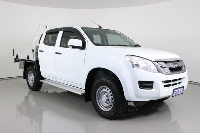 Used Isuzu D-MAX TF MY15.5 SX (4x4) Bentley, 2016 Isuzu D-MAX TF MY15.5 SX (4x4) White 5 Speed Automatic Crew Cab Chassis