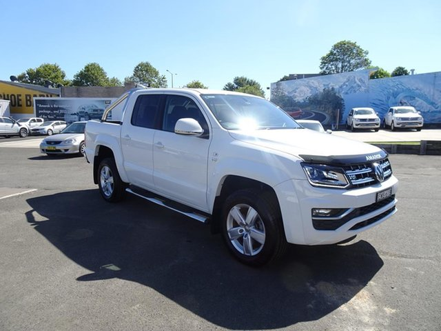 Used Volkswagen Amarok 2H MY17 TDI550 4MOTION Perm Highline Nowra, 2017 Volkswagen Amarok 2H MY17 TDI550 4MOTION Perm Highline White 8 Speed Automatic Utility