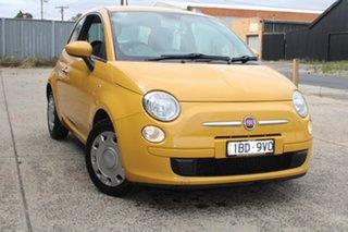 2013 Fiat 500 MY13 POP Yellow 5 Speed Automatic Hatchback.