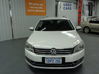 2011 Volkswagen Passat Type 3C MY11 125TDI DSG Highline White 6 Speed Sports Automatic Dual Clutch.