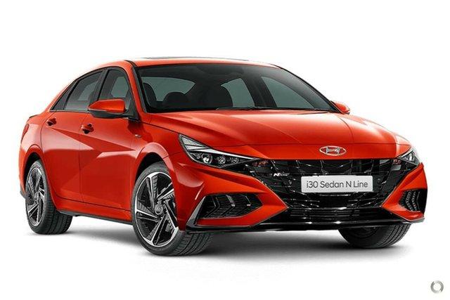 New Hyundai i30 CN7.V1 MY21 N Line D-CT Nailsworth, 2021 Hyundai i30 CN7.V1 MY21 N Line D-CT Lava Orange 7 Speed Sports Automatic Dual Clutch Sedan