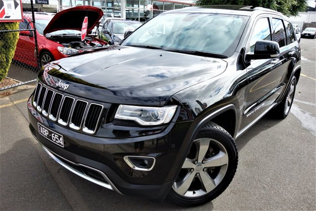 Used Jeep Grand Cherokee WK MY15 Limited Seaford, 2015 Jeep Grand Cherokee WK MY15 Limited Black 8 Speed Sports Automatic Wagon
