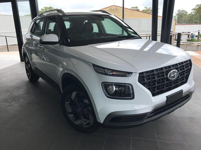 New Hyundai Venue QX.V3 MY21 Active Gladstone, 2021 Hyundai Venue QX.V3 MY21 Active White 6 Speed Automatic Wagon