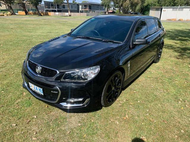 Used Holden Commodore VF II MY16 SS V Sportwagon Redline Launceston, 2016 Holden Commodore VF II MY16 SS V Sportwagon Redline Black 6 Speed Sports Automatic Wagon