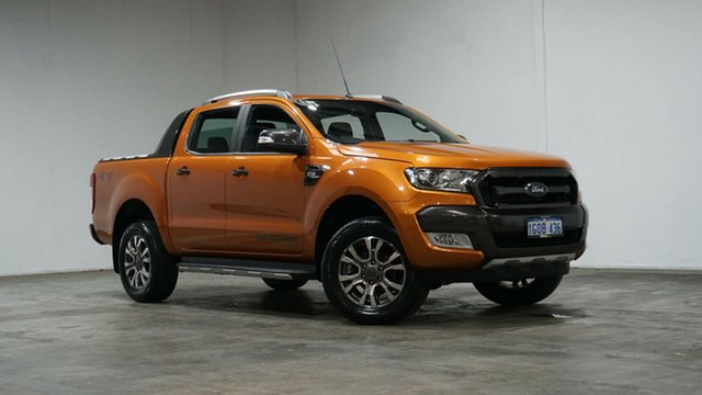 Used Ford Ranger PX MkII Wildtrak Double Cab Welshpool, 2015 Ford Ranger PX MkII Wildtrak Double Cab Orange 6 Speed Sports Automatic Utility