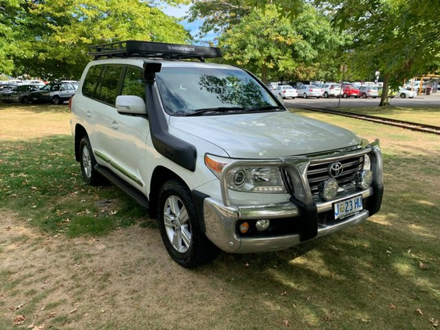 Used Toyota Landcruiser VDJ200R MY12 Sahara Launceston, 2012 Toyota Landcruiser VDJ200R MY12 Sahara White 6 Speed Sports Automatic Wagon
