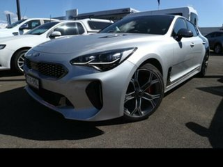 2019 Kia Stinger CK MY20 GT (Black Leather) Silver 8 Speed Automatic Sedan.