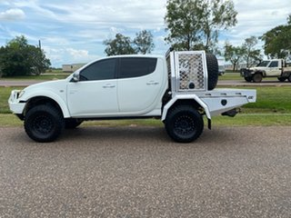 2009 Mitsubishi Triton MN MY10 GLX Double Cab White 4 Speed Automatic Utility