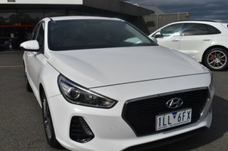 2017 Hyundai i30 PD MY18 Active White 6 Speed Sports Automatic Hatchback.