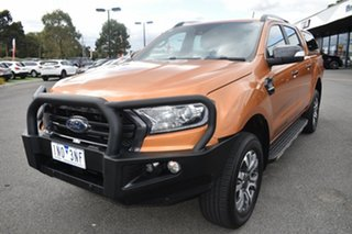 2018 Ford Ranger PX MkIII 2019.00MY Wildtrak Orange 6 Speed Sports Automatic Utility