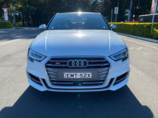 2017 Audi S3 8V MY17 S Tronic Quattro White 7 Speed Sports Automatic Dual Clutch Sedan.