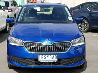 2019 Skoda Fabia NJ MY20 81TSI DSG Blue 7 Speed Sports Automatic Dual Clutch Hatchback.