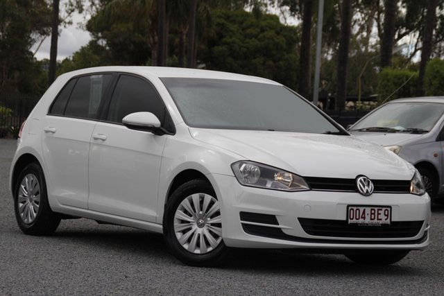 Used Volkswagen Golf VII MY14 90TSI DSG Beaudesert, 2014 Volkswagen Golf VII MY14 90TSI DSG White 7 Speed Sports Automatic Dual Clutch Hatchback