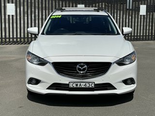 2014 Mazda 6 GJ1021 MY14 GT SKYACTIV-Drive White 6 Speed Sports Automatic Wagon.