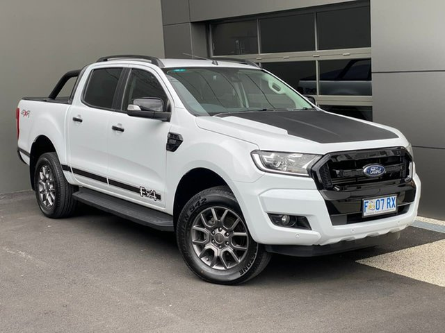 Used Ford Ranger PX MkII FX4 Double Cab Hobart, 2017 Ford Ranger PX MkII FX4 Double Cab White 6 Speed Sports Automatic Utility