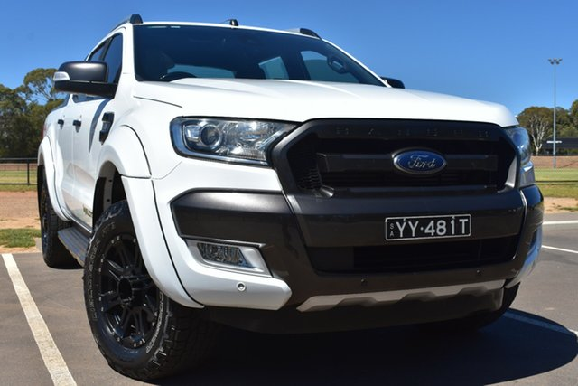 Used Ford Ranger PX MkII Wildtrak Double Cab St Marys, 2016 Ford Ranger PX MkII Wildtrak Double Cab White 6 Speed Sports Automatic Utility
