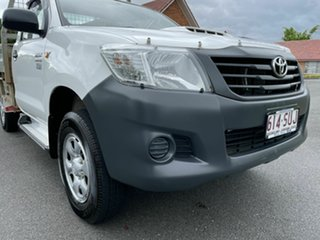 2012 Toyota Hilux KUN26R Workmate White 5 Speed Manual Single Cab