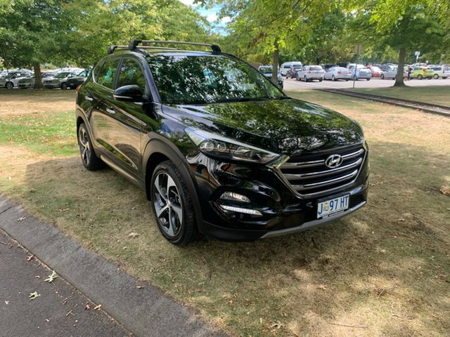 Used Hyundai Tucson TLE Highlander AWD Launceston, 2016 Hyundai Tucson TLE Highlander AWD Black 6 Speed Sports Automatic Wagon