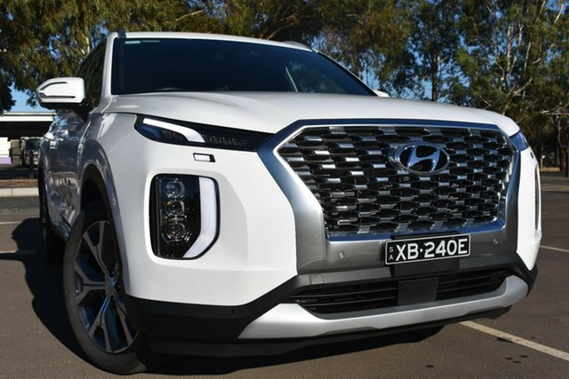 Demo Hyundai Palisade LX2.V1 MY21 Highlander 2WD St Marys, 2020 Hyundai Palisade LX2.V1 MY21 Highlander 2WD White Cream 8 Speed Sports Automatic Wagon