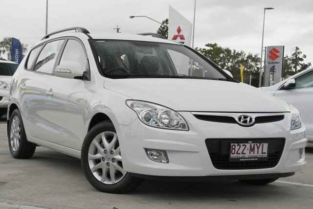 Used Hyundai i30 FD MY10 SLX cw Wagon Aspley, 2010 Hyundai i30 FD MY10 SLX cw Wagon White 4 Speed Automatic Wagon