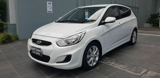 2018 Hyundai Accent RB6 MY18 Sport White 6 Speed Automatic Hatchback.