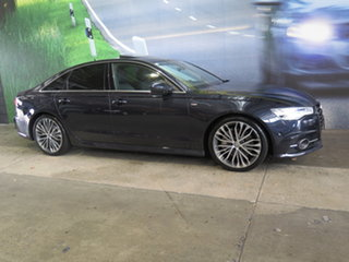2016 Audi A6 4G MY16 S Line Tiptronic Quattro Bi-Turbo Blue 8 Speed Sports Automatic Sedan.
