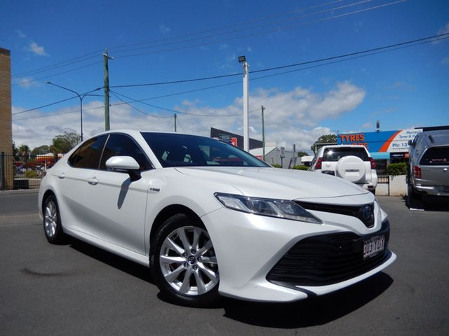 Pre-Owned Toyota Camry AXVH71R Ascent (Hybrid) Dalby, 2018 Toyota Camry AXVH71R Ascent (Hybrid) Frosted White Continuous Variable Sedan