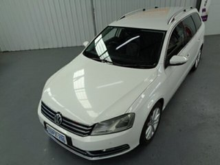 2011 Volkswagen Passat Type 3C MY11 125TDI DSG Highline White 6 Speed Sports Automatic Dual Clutch