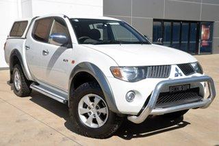 2007 Mitsubishi Triton ML MY08 GLX-R Double Cab White 4 Speed Automatic Utility.