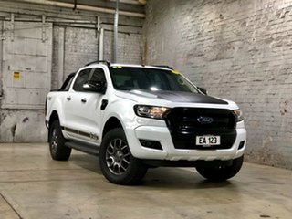 2017 Ford Ranger PX MkII FX4 Double Cab White 6 Speed Manual Utility.