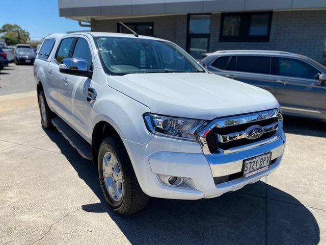 Used Ford Ranger PX MkII XLT Double Cab Hillcrest, 2017 Ford Ranger PX MkII XLT Double Cab White 6 Speed Sports Automatic Utility