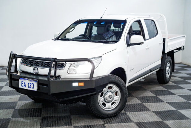 Used Holden Colorado RG MY14 LX Crew Cab Edgewater, 2014 Holden Colorado RG MY14 LX Crew Cab White 6 Speed Sports Automatic Utility