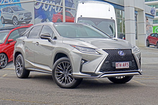 2016 Lexus RX GYL25R RX450h F Sport Silver 6 Speed Constant Variable Wagon Hybrid.