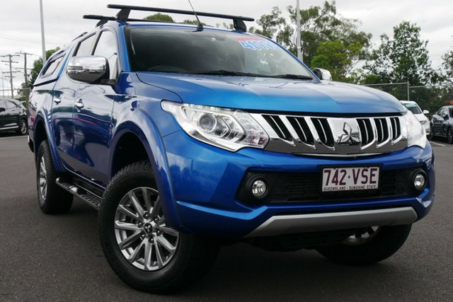 Used Mitsubishi Triton MQ MY16 Exceed Double Cab Hillcrest, 2015 Mitsubishi Triton MQ MY16 Exceed Double Cab Blue 5 Speed Sports Automatic Utility