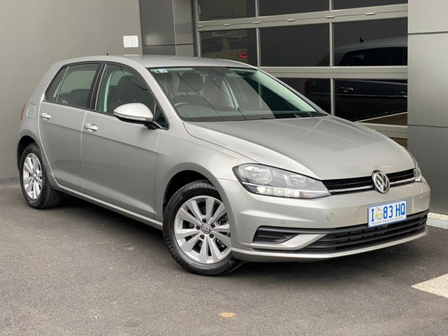 Used Volkswagen Golf 7.5 MY19.5 110TSI DSG Trendline Hobart, 2019 Volkswagen Golf 7.5 MY19.5 110TSI DSG Trendline Silver 7 Speed Sports Automatic Dual Clutch