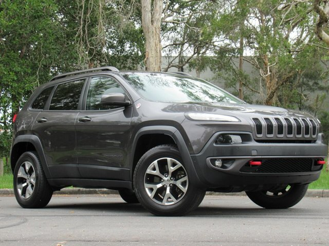 Used Jeep Cherokee KL MY16 Trailhawk, 2015 Jeep Cherokee KL 4X4 TRAILHAW MY15 Grey 9 Speed Automatic Wagon