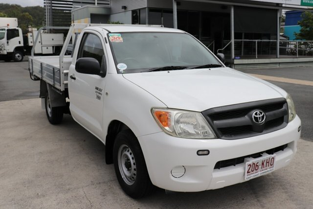 Used Toyota Hilux TGN16R MY07 Workmate 4x2 Robina, 2007 Toyota Hilux TGN16R MY07 Workmate 4x2 Glacier 5 speed Manual Cab Chassis