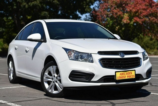 Used Holden Cruze JH Series II MY15 Equipe Enfield, 2015 Holden Cruze JH Series II MY15 Equipe White 6 Speed Sports Automatic Sedan