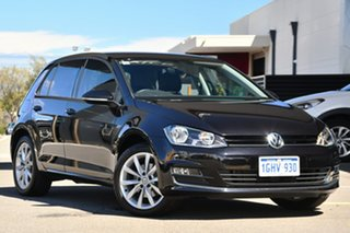 2017 Volkswagen Golf VII MY17 110TSI DSG Highline Black 7 Speed Sports Automatic Dual Clutch.